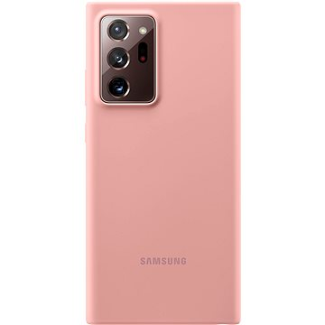 Samsung Silikonový zadní kryt pro Galaxy Note20 Ultra 5G hnědý - Kryt na mobil