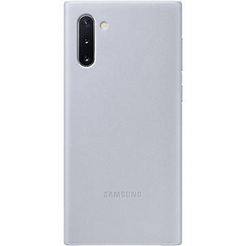 Samsung Kožený zadní kryt pro Galaxy Note10 šedý - Kryt na mobil