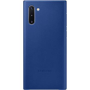 Samsung Kožený zadní kryt pro Galaxy Note10 modrý - Kryt na mobil