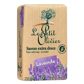 LE PETIT OLIVIER Extra Mild Soap - Lavender 250 g - Tuhé mýdlo