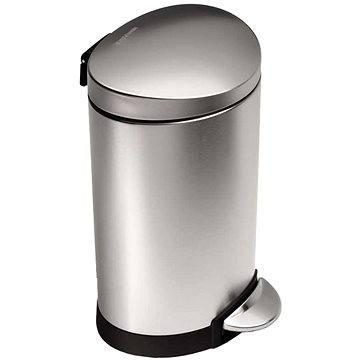 Simplehuman Půlkulatý pedálový koš 6l, matná ocel, FPP - Odpadkový koš