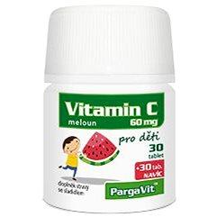 PargaVit Vitamin C meloun pro děti tbl.60 - Vitamín C
