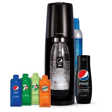 Sodastream Spirit Black Pepsi MegaPack - Výrobník sody