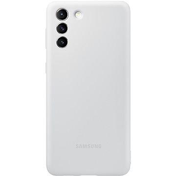 Samsung Silikonový zadní kryt světle pro Galaxy S21+ šedý - Kryt na mobil