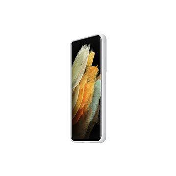 Samsung Silikonový zadní kryt pro Galaxy S21 Ultra světle šedý - Kryt na mobil