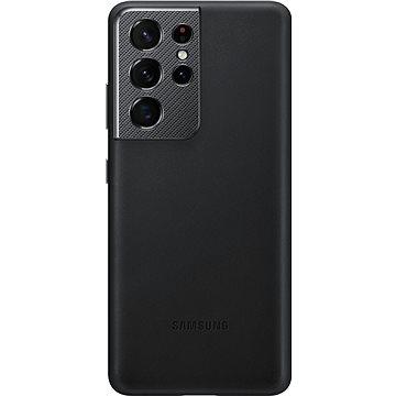 Samsung Kožený zadní kryt pro Galaxy S21 Ultra černý - Kryt na mobil