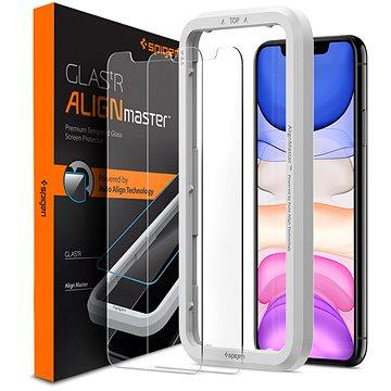 Spigen Align Glas.tR 2 pack iPhone 11/XR - Ochranné sklo
