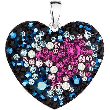 EVOLUTION GROUP 34243.4  srdce galaxy dekorované krystaly Swarovski® (Ag925/1000, 2 g, mix barev) - Přívěsek