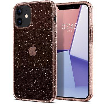 Spigen Liquid Crystal Glitter Rose iPhone 12 Mini - Kryt na mobil