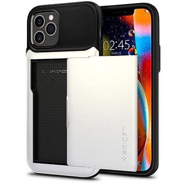Spigen Slim Armor Wallet White iPhone 12/iPhone 12 Pro - Kryt na mobil