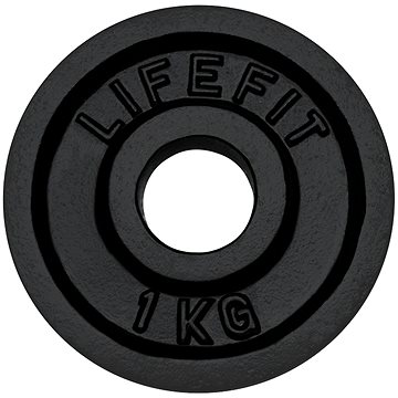 Kotouč Lifefit 1 kg / tyč 30 mm - Závaží na činky