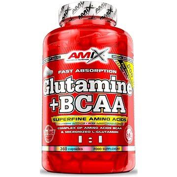 Amix Nutrition L-Glutamin + BCAA 360 kapslí - Aminokyseliny