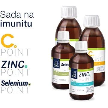 Lifeline Diag ImmunoPack - 40 g Zinc.point, 40 g Selenium.point, 2 x 100 g vitamín C.point - Vitamín