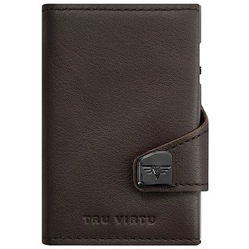 Tru Virtu Click & Slide - leather Nappa Brown - Peněženka