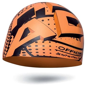 Head Silicone Sketch junior, oranžová - Plavecká čepice