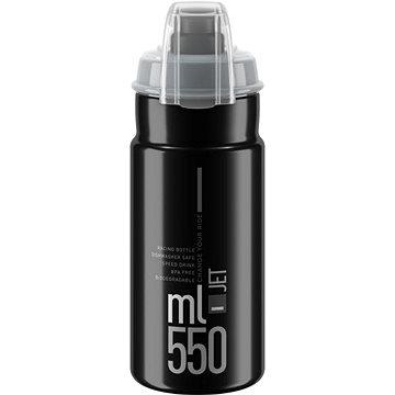 Elite JET PLUS černá/šedé logo, 550 ml  - Láhev na pití