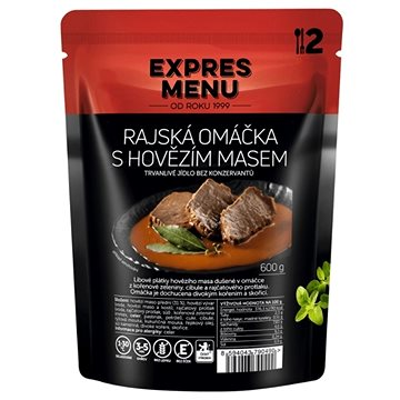 Expres Menu Rajská omáčka s hovězím - MRE
