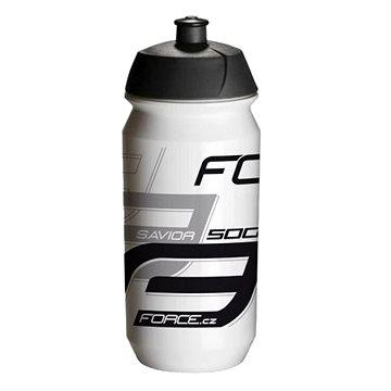Force SAVIOR 0,5 l, bílo-šedo-černá - Láhev na pití
