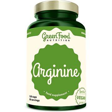 GreenFood Nutrition Arginin 120 kapslí - Aminokyseliny