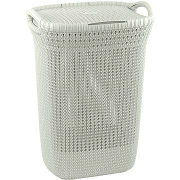 Curver Knit 57L krémový - Koš na prádlo