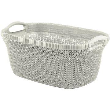 Curver koš na čisté prádlo Knit 40L krémový - Koš na prádlo
