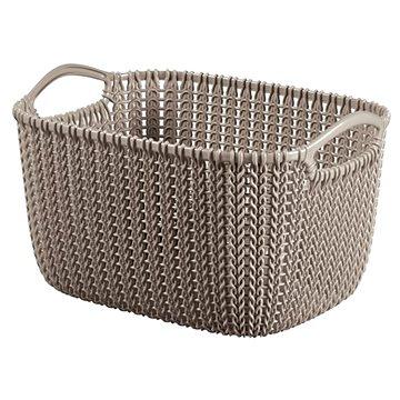 Curver Knit košík kulatý 8L hnědý - Úložný box