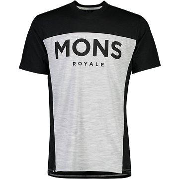 Mons Royale Redwood Enduro VT Black / Grey Marl, vel. L - Tričko