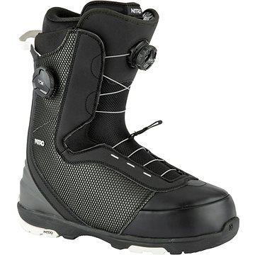 Nitro Club BOA Dual Black vel. 46 EU / 305 mm - Boty na snowboard