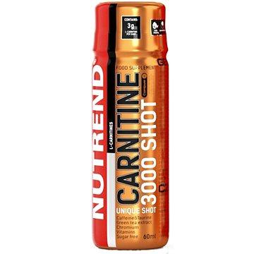 Nutrend Carnitine 3000 SHOT, 20x60 ml, pomeranč - Spalovač tuků