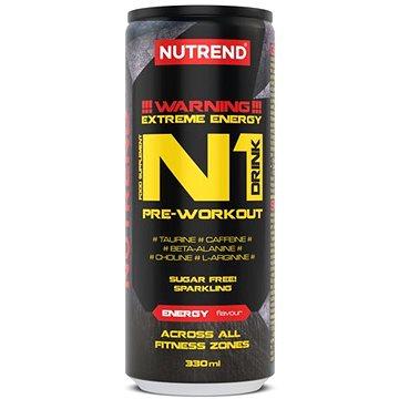 Nutrend N1 drink 330 ml, energy - Spalovač tuků