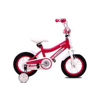 """OLPRAN Berry 12"""", růžová/bílá - Dětské kolo"""
