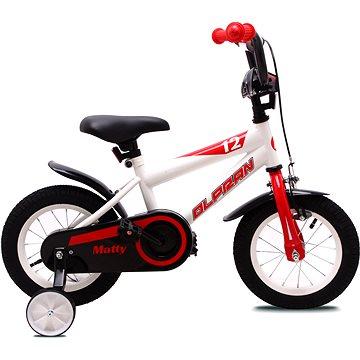 """OLPRAN Matty 12"""", bílá/červená - Dětské kolo"""