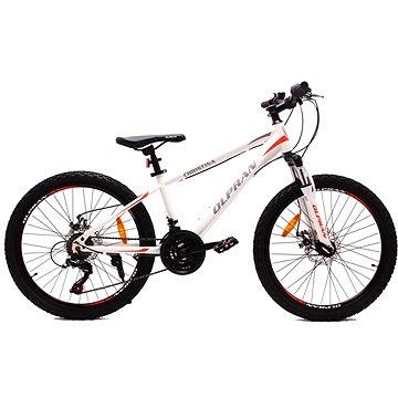 """OLPRAN XC 24"""" bílá/červená - Dětské kolo"""