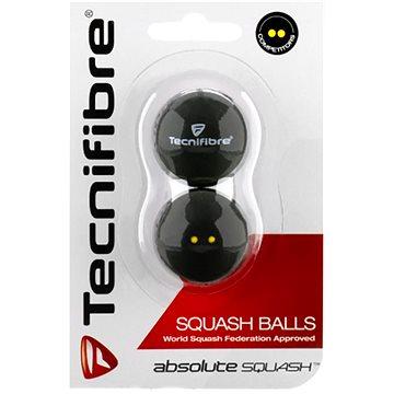 Tecnifibre dvoutečkové žluté - Squashový míč