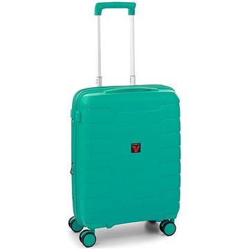 Roncato SKYLINE 55 cm, 4 kolečka, USB, EXP, zelená - Cestovní kufr s TSA zámkem