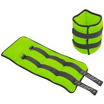 LIFEFIT kotník/zápěstí neoprenová  S2, 2x4,0kg, sv. zelená - Závaží