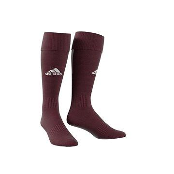 Adidas Performance SANTOS SOCK 18, bordová/bílá, EU 46 - 48 - Štulpny