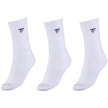 Tecnifibre socks 3ks bílá EU 40 - 45 - Ponožky
