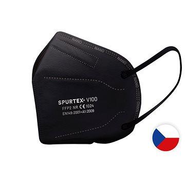 SpurTex® Nanorespirátor V100 FFP2 NR - 5ks CE L černý - Respirátor