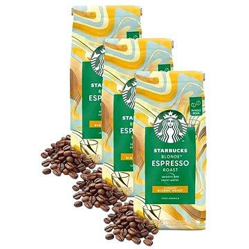 Starbucks® Blonde Espresso Roast, zrnková káva, 450g; 3x - Káva