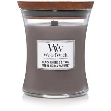 WOODWICK Black Amber and Citrus 275 g - Svíčka