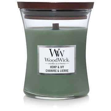WOODWICK Hemp and Ivy 275 g - Svíčka