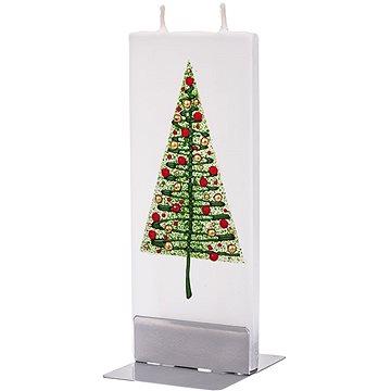 FLATYZ Green Christmas Tree & Red Balls 80 g - Svíčka