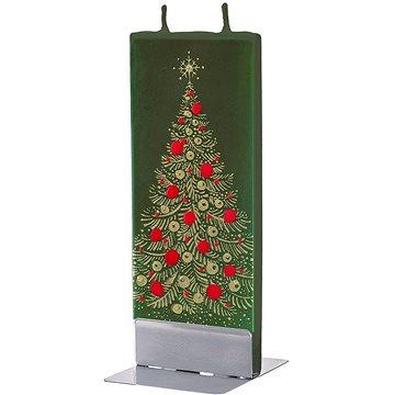FLATYZ Gold Christmas Tree On Green 80 g - Svíčka