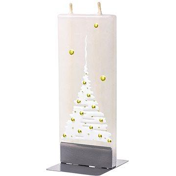 FLATYZ Christmas Tree, White On Gold 80 g - Svíčka