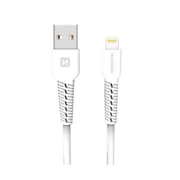 Swissten datový kabel lightning 1m bílý - Datový kabel