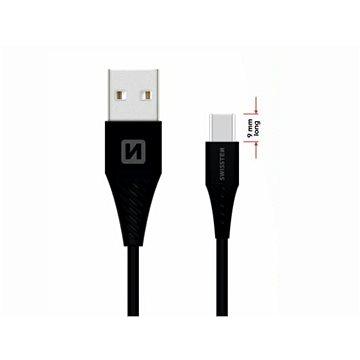 Swissten datový kabel USB-C 1.5m prodloužený konektor černý  - Datový kabel