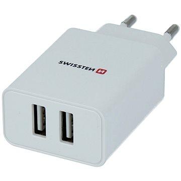 Swissten síťový adaptér SMART IC 2.1A + kabel micro USB 1.2m bílý - Nabíječka do sítě