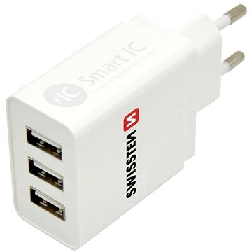 Swissten síťový adaptér SMART IC 3 x USB 3.1A - Nabíječka do sítě