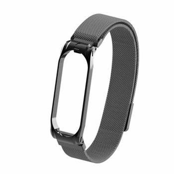 Tactical Loop magnetický kovový řemínek pro Xiaomi Mi Band 5/6 Black - Řemínek